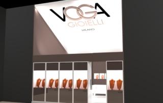 Progetto stand Voga - VicenzaOro
