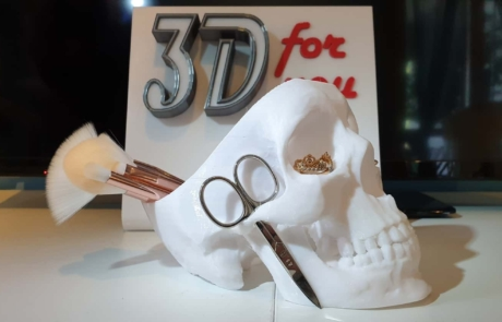 3D for you - Portaoggetti teschio