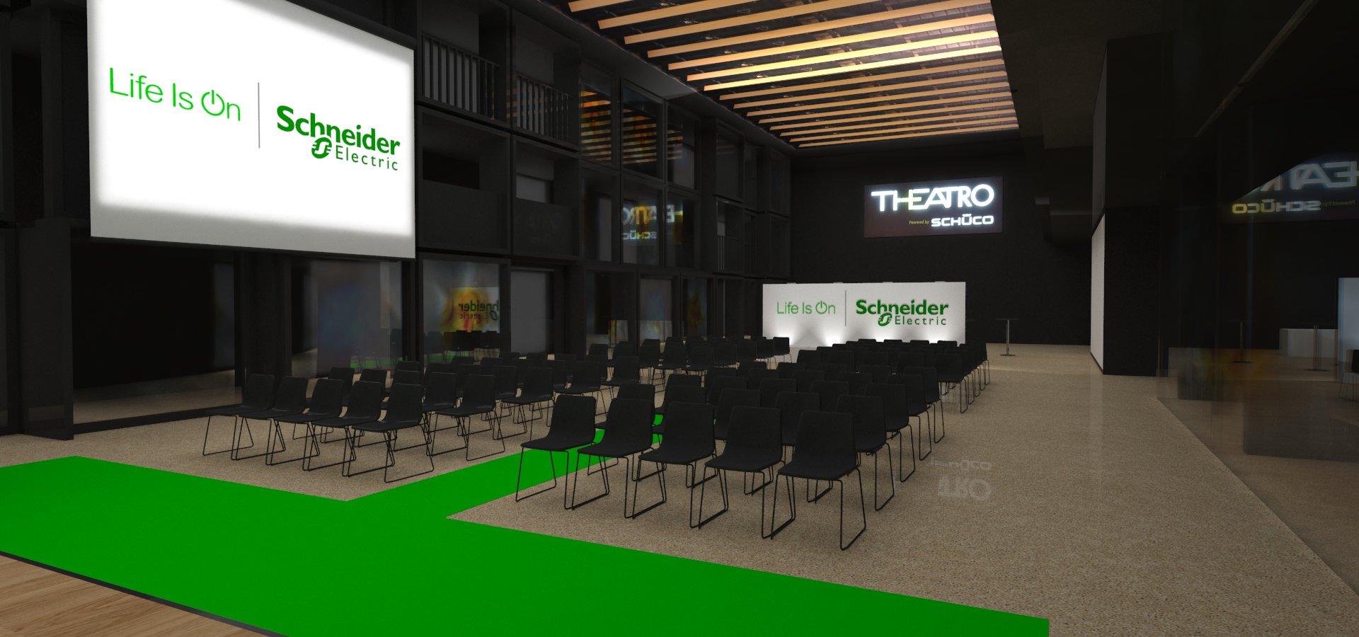 Progetto Schneider Electric Theatro Schuco